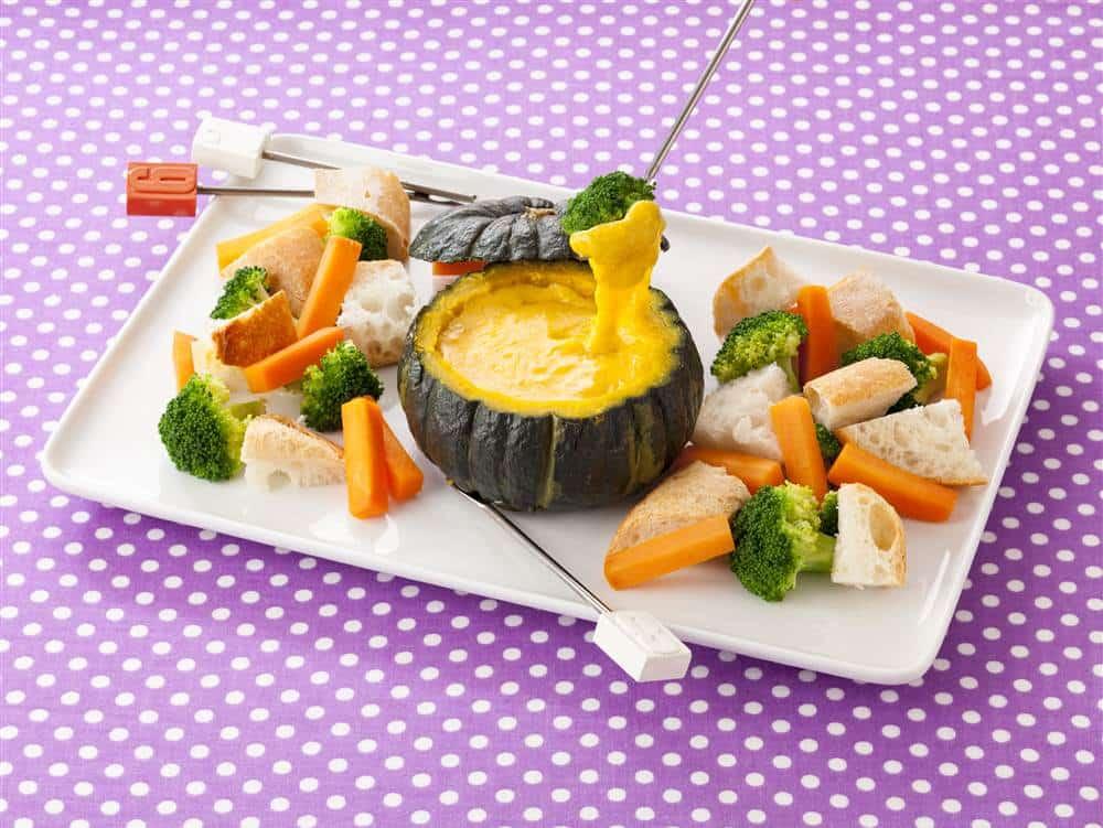 まるごとかぼちゃのマヨチーズフォンデュ